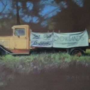 rowlands v 8 ford truck original pastel painting